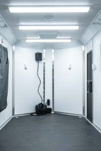 12 v battery custom light and electrical options for cargo trailers