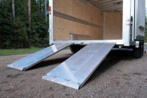 24x60 Aluminum Ramp on Double Doors