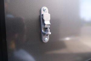 Aluminum Door Holdback (detail)