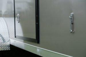 Aluminum Door Holdback (position on trailer)
