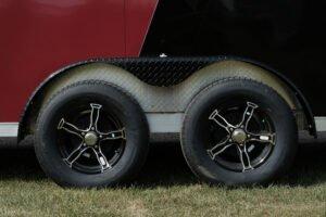 Photo of black aluminum 5 hole wheels