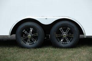 Photo of black aluminum 6 hole wheels