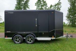 blackout trim package on legend deluxe v-nose cargo trailer