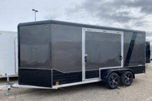 blackout trim options on Legend deluxe v-nose cargo trailer