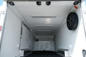 Custom Ceiling Option for Legend enclosed trailers a Deluxe Overhead Spring Cover