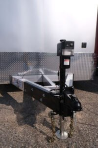 Custom jack options for enclosed and open Legend trailers