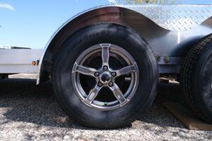 Photo of gunmetal aluminum 5 hole wheels