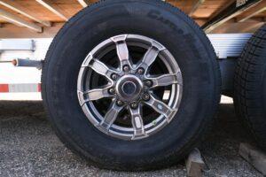 Photo of gunmetal aluminum 8 hole wheels