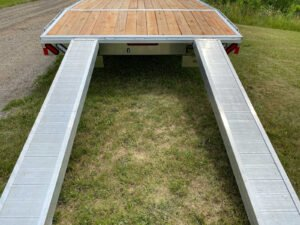 Rear ramps on Legend's General Duty Aluminum Deck Over trailer