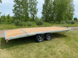 Side view of Legend's General Duty Aluminum Deck Over trailer
