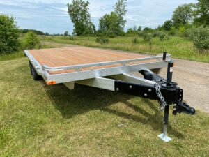 Front view of Legend's General Duty Aluminum Deck Over trailer