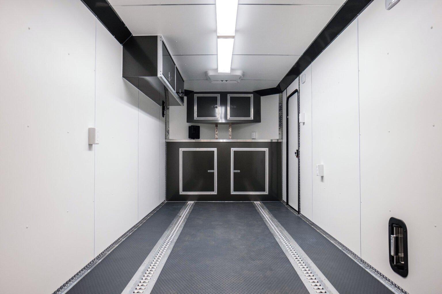 Recessed Aluminum E-Track on Legend cargo trailer