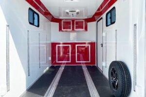 Cargo Solutions for Enclosed Cargo Trailers Recessed Aluminum E-Track on Legend cargo trailer