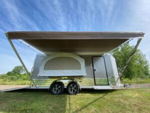 Awning and camper package for Legend enclosed trailers