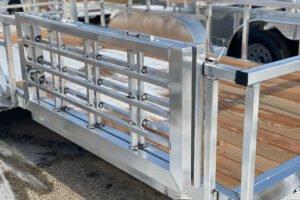 "58"" Bi-Fold Side Gate (Open Deluxe only) custom trailer ramp options"