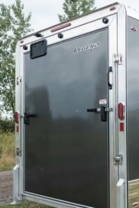 Stainless Steel Cam Bar options for enclosed Legend cargo and sport trailers