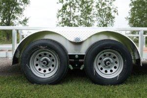 Photo of steel silver mod 5 hole wheels
