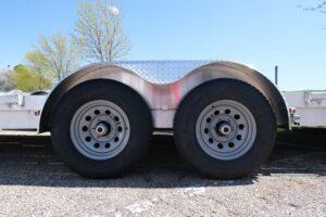 Photo of steel silver mod 6 hole wheels