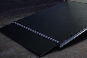 custom trailer ramp door options shown as Super Stratum Ramp Flap