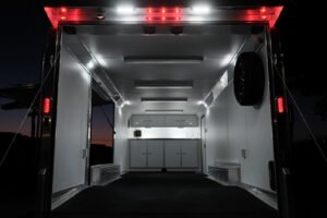 LED Tail Bar Lights & Load Lights custom electrical options for cargo trailers