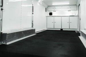 Custom 4-Door Cabinets in Cargo Trailers