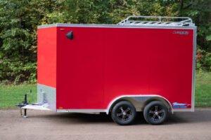 Aluminum Luggage Rack on Legend Thunder enclosed cargo trailer