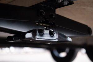 Scissor Jack custom jack option for Legend enclosed cargo and sport trailers