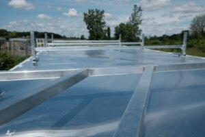 Aluminum Roof Rack cargo solution for enclosed Legend trailers