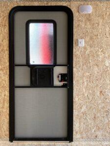 RV-Side Door w/ Window and Screen Door on enclosed trailers side doors