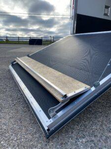 custom trailer ramp door options Ramp Door Flap Extension (closed view)