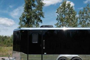 black low profile Air Conditioning Unit in Legend enclosed cargo trailers