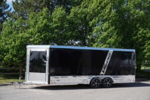 Deluxe Snow 8' Wide enclosed aluminum snow and atv trailer