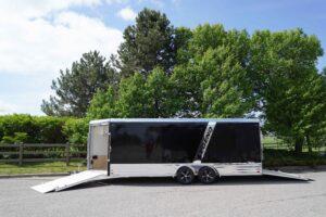 Deluxe Snow enclosed aluminum trailer
