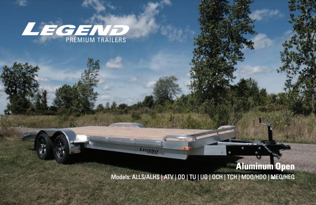 Legend Aluminum Open Trailers Brochure Cover